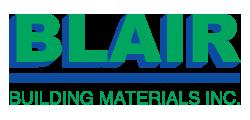 Blair Building Materials Sponsor Logo